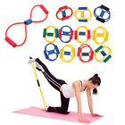 FITNESS EQUIPMENT ELASTIC RESISTANCE BANDS TUBE WORKOUT EXERCISE BAND FOR YOGA#A