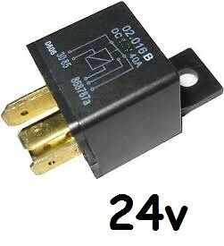 40 Amp 24V 4 pin solenoid relay | eBay  Amp Relay Solenoid Wiring on