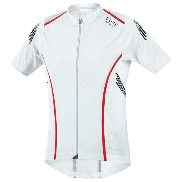 NEW GORE men's XENON S  cycling jersey   SMALL   white   FREE SHIP  order online