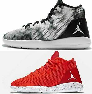 Nike-Jordan-revelan-Entrenadores-Negro-Blanco-Nuevo-Hombre-100-Autentico-Hi-Tops-Sin-Tapa