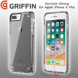 new concept 5158b 0f379 Details about GENUINE Griffin Survivor Strong Case Clear for Apple iPhone 8  Plus 7+ 6+ 5.5