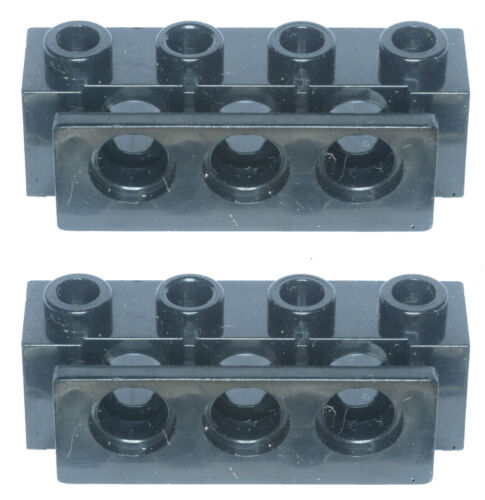 Missing Lego Brick 2989 Black x 2 Technic Brick 1 x 4 with Holes /& Bumper Holder