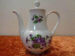 DDR-Porcelana-Cafe-Espresso-Jarra-Graf-von-Henneberg-Violeta-Vintage-Um