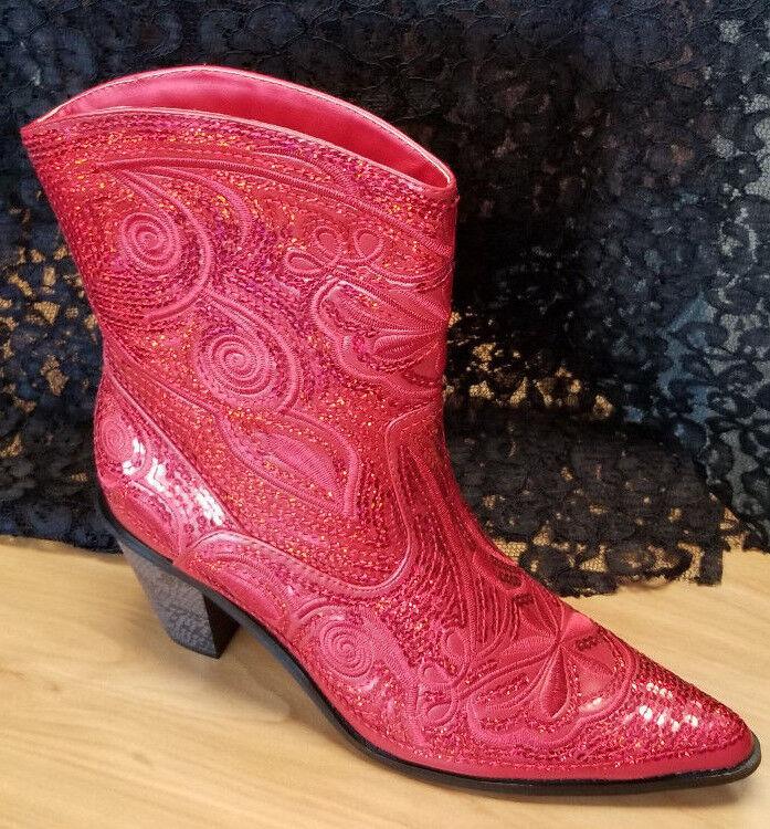 Helen's Heart Short Sequin Bling Boots .  New in box.
