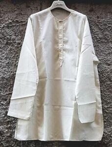 Tunica in cotone color crema c/ ricamo dietro-tasche e bottoni - MyBatua - Kurta