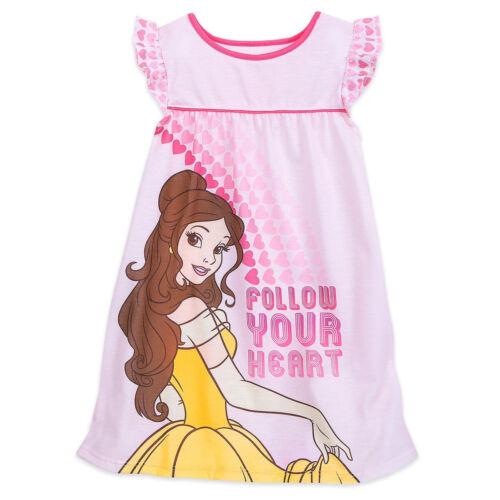 Disney Store Princess Belle Nightshirt Nightgown Pink Girl Size 4 5//6 7//8 9//10