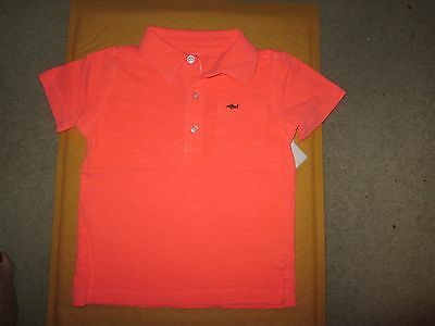CARTER/'S BOY/'S TODDLER ORANGE POLO SHIRT NEW SIZE 4T