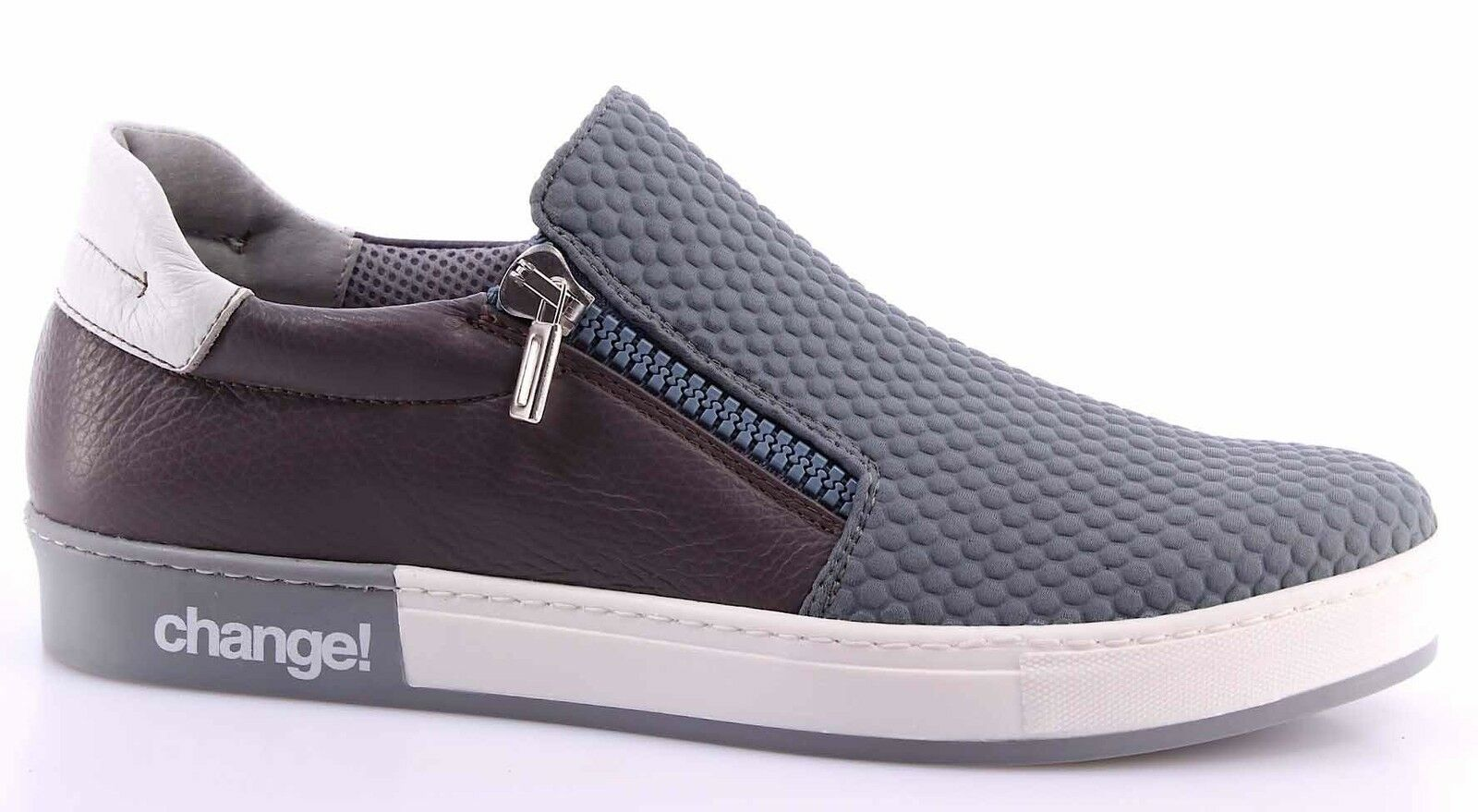 Herren Schuhe Slip On Sneakers Ardesia CHANGE  ZipperM Hexagon Ardesia Sneakers Shock Dark Gray 688b5f