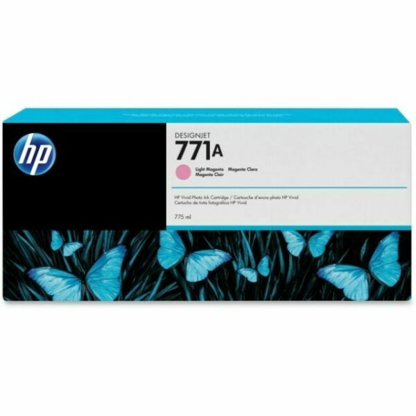 HP 771A Light Magenta Ink Cartridge B6Y19A OEM NEW Sealed Current 2020 Date