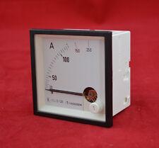 Gossen EC72 72x72mm 0-250 A Amperemeter analog Einbaumessgerät