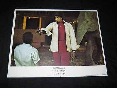 "Original HIT MAN 11"" X 14"" Lobby Card BERNIE CASEY Blaxploitation #3"