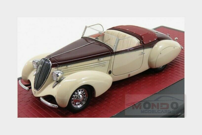 Steyr 220 Gleaser Sport Spider 1938 Ivory Ivory Ivory Red MATRIX 1 43 MX41806-011 Model 239765