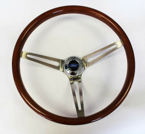 "1958-1963 Ford Ranchero 15/"" Wood Steering Wheel high gloss finish complete kit"
