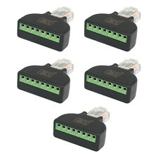 MX 5pc RJ45 Screw terminal Plug Cat5e 8P8C Lan Connector Network CAT 5E- S-031