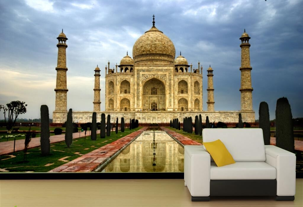3D Taj Mahal, India 1B WallPaper Murals Wall Print Decal Wall Deco AJ WALLPAPER