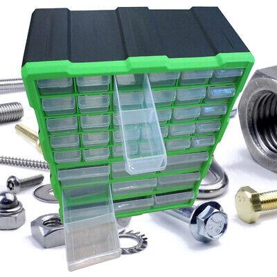 25 Drawer Multi Unit Storage Cabinet Hand Carry Case Workshop DIY Tool Organizer