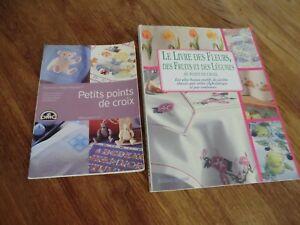 2 Livres Coutures Guides Techniques Point De Croix 150 Des Plus Beaux Motifs