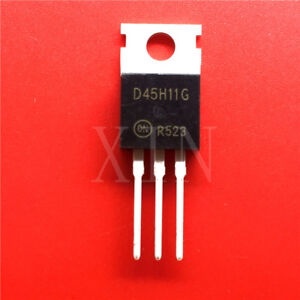 10PCS-D45H11G-Encapsulation-TO-220-Complementary-Silicon-Power-Transistors