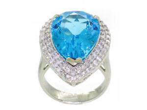 15-10ct-Suizo-Topacio-Azul-amp-Diamante-Anillo-en-14k-Oro-Blanco