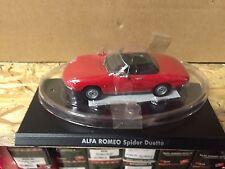"""DIE CAST """" ALFA ROMEO SPIDER DUETTO """" 1/43 HACHETTE AUTO ITALIANE"""