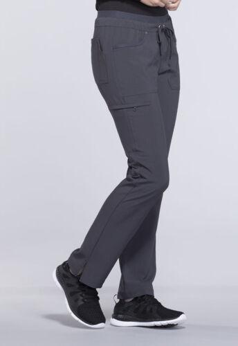 Cherokee Scrubs Mid Rise Drawstring Petite Pants CK010P PWT Pewter Free Shipping