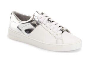 43c296fa0fabf Women Michael Kors Toby Lace Up Sneaker Leather Optic Optic White ...