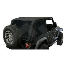 Jeep Wrangler TJ Bowless Soft Top Black Diamond with Tint  1997-2006 BRT10035