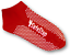 Pilates Fitness Safety Antibacterial RED 6 Pairs Yoga Non Slip Grip Socks