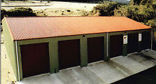 Steel Insulated 6 Car Garage Metal Building Shop Kit
