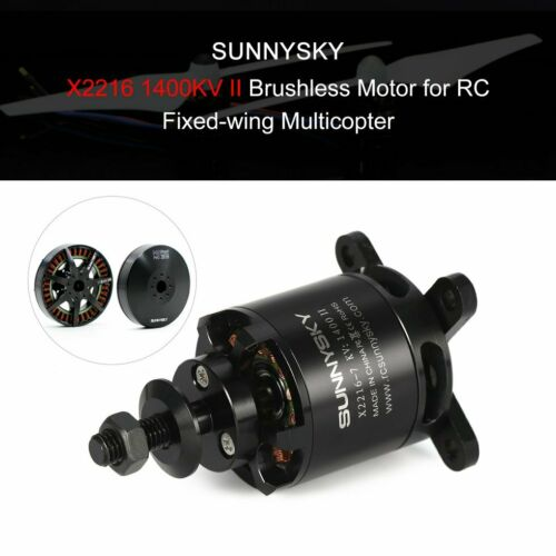 SUNNYSKY X2216 1400KV II 2-4S Brushless Motor for RC Fixed-wing Airplane AZ