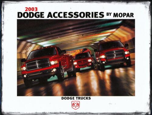 Dodge Trucks Accessories Mopar Prospekt 2003 brochure Auto Broschüre prospectus