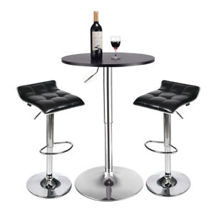 Swell Details About 3 Piece Pub Bar Table Set Bar Stools Adjustable Dining Chairs Counter Height Caraccident5 Cool Chair Designs And Ideas Caraccident5Info