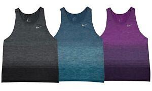 mujer Nike para tirantes para Knit Camiseta p de Negro mujer azul Dri Running fit xp0nqx84aw
