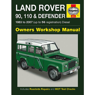 Haynes Land Rover 90 110 Defender TD5 Diesel 1983-2007 Manual 3017 NEW