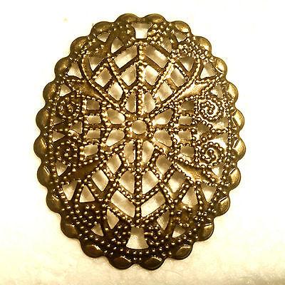 5x Ornament Gioielli Ovale 45mm Costume Ornamento Medioevo Gothic Gewandung-k Oval 45mm Kostüm Verzierung Mittelalter Gothic Gewandung It-it Profitto Piccolo