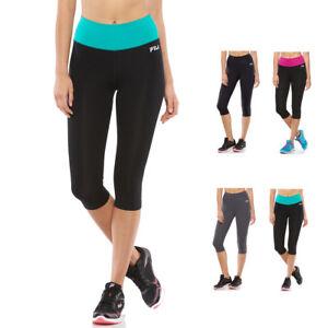 New-FILA-SPORT-Women-039-s-Yoga-Workout-Gym-Fitness-High-Waist-Capri-Leggings-40
