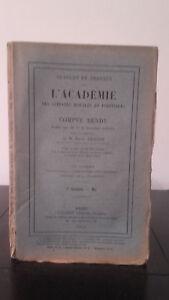 Sessioni E Lavoro Di ACCADEMIA Delle Sciences Morales E Politica - 1915 - N°5