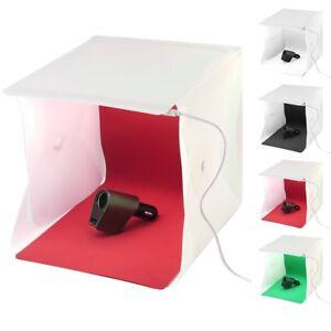 Double LED Light Room Photo Studio Photography Lighting Tent Backdrop Cube Box 654754584912