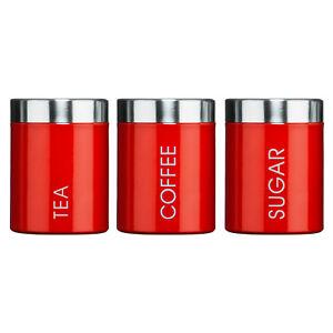 Rouge-Email-The-Cafe-et-Sucre-Boites-Boites-de-Rangement-Cuisine-recipients-Set
