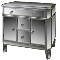 Venetian Mirrored Sideboard Cabinet Furniture Shabby Chic 3 Drawers 2 Cupboards