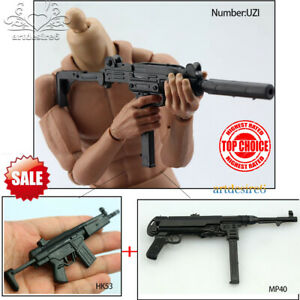 1:6 Scale 4D Assembled Weapon Model Carbine Gun HK53 Model Toy