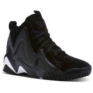 Reebok-Men-039-s-Kamikaze-II-ATL-LAX-Black-Leather-Suede-Athletic-Sneakers-CM9416