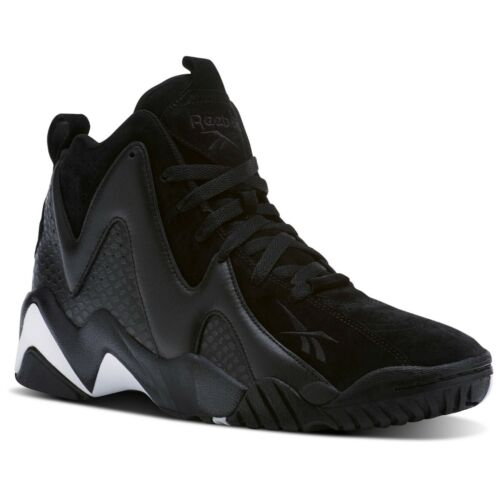 Suede Athletic Sneakers CM9416 Reebok Men/'s Kamikaze II ATL-LAX Black Leather