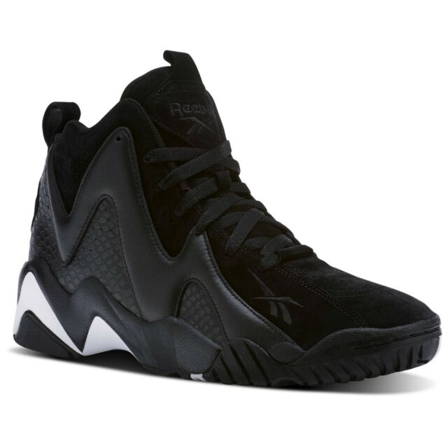 d79a2f5633dd44 Reebok Men s Kamikaze II ATL-LAX Black Leather   Suede Athletic Sneakers  CM9416