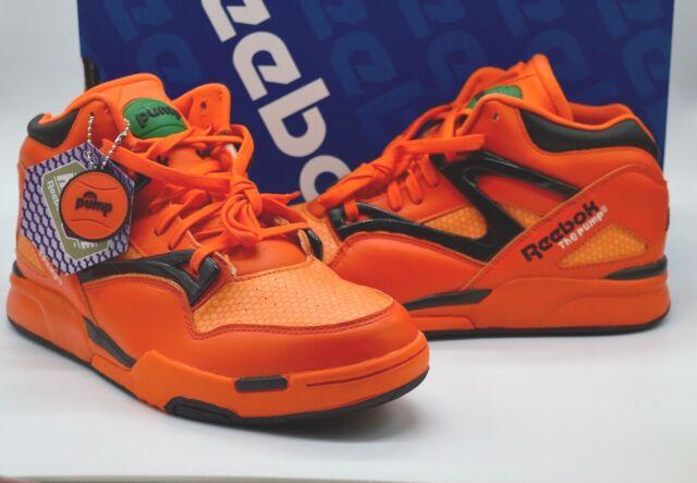 New Reebok Pump Omni Lite Halloween Swag OrangeBlackWhiteGreen Rare Retro