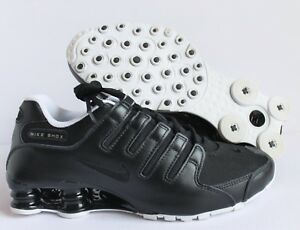 wholesale dealer 4d92a 0ade2 Image is loading NIKE-MEN-SHOX-NZ-ID-BLACK-WHITE-SILVER-