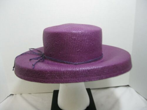 Women/'s Toyo Purple Straw Hat Sun Beach Derby Easter Spring Summer #1326P
