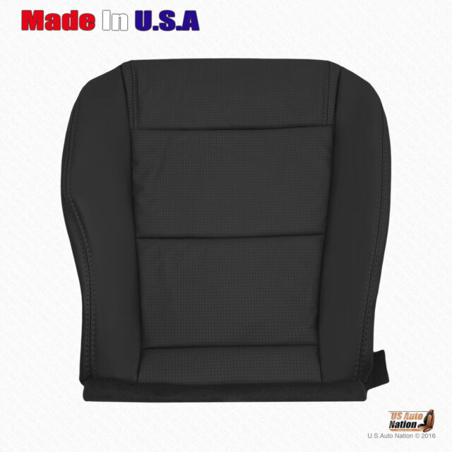 Front Driver Bottom Perforated Leather Seat Cover Black
