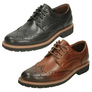 Hombre-CLARKS-batcombe-Wing-Cuero-Informal-Zapatos-Oxford-Con-Cordones