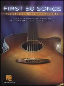 50 Premières Chansons Vous Devriez Fingerpick Sur Guitare Tab Music Book Acoustique Beatles-afficher Le Titre D'origine